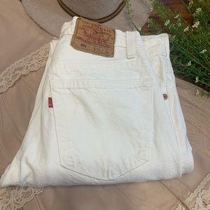 VTG Levi's 501 White Mom High Rise Jeans Sz 31